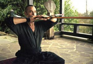 Martial art blow gun meditation zen