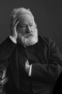 Portrait of French writer Victor Hugo
